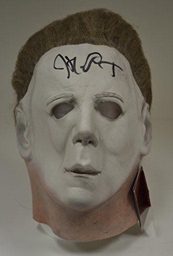 John Carpenter signed Halloween II Mask Michael Myers Full Size Adult HORROR @ niftywarehouse.com #NiftyWarehouse #Halloween #Scary #Fun #Ideas
