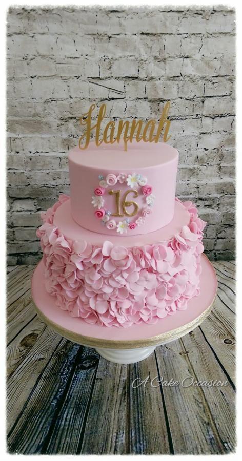 Pink ruffle cake  by A Cake Occaaion