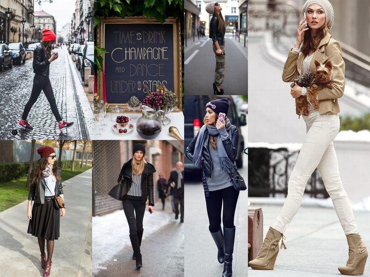 Кожаная куртка. Она может быть любой: черная или цвета фуксии, главное ее можно сочетать с любым стилем. И с любой шапкой.