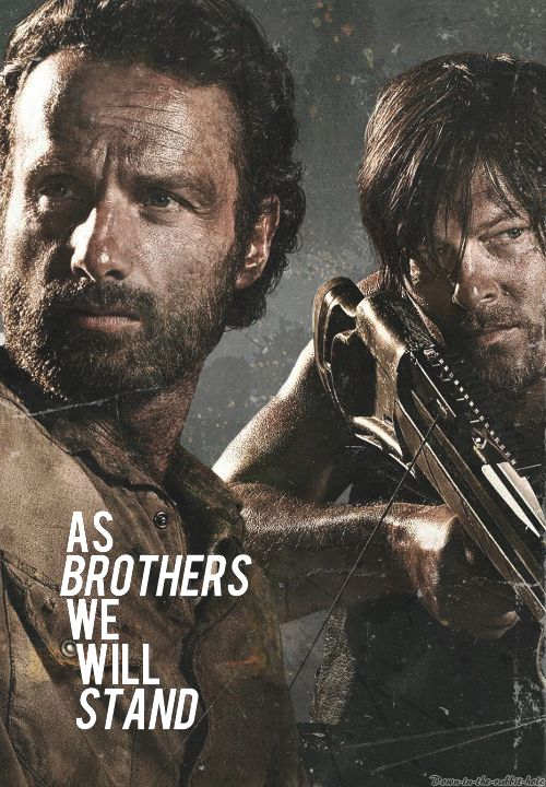 Rick Grimes and Daryl Dixon ~ As brothers we will stand ~ The Walking Dead Fan Art