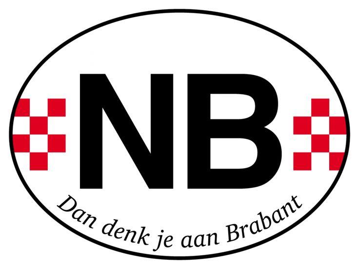 Autosticker Noord Brabant (NB)