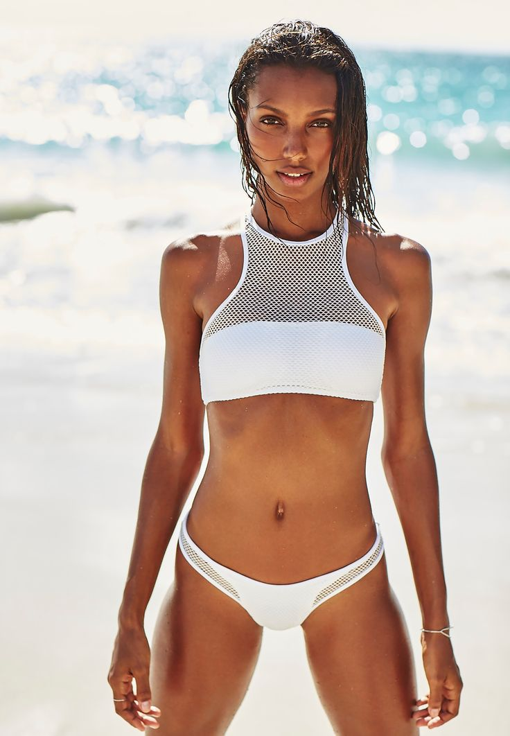 Make beach waves. | Victoria's Secret Mesh High-Neck Top