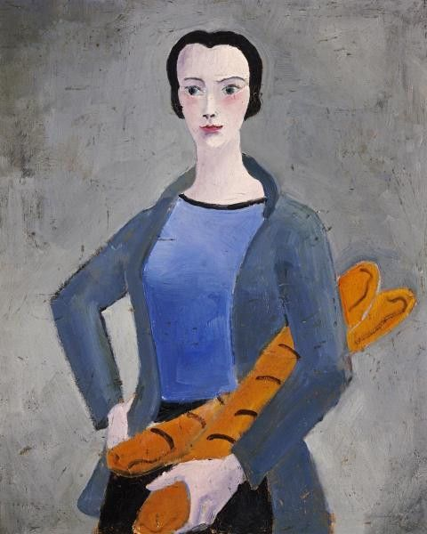 Girl With Bread by Christopher Wood