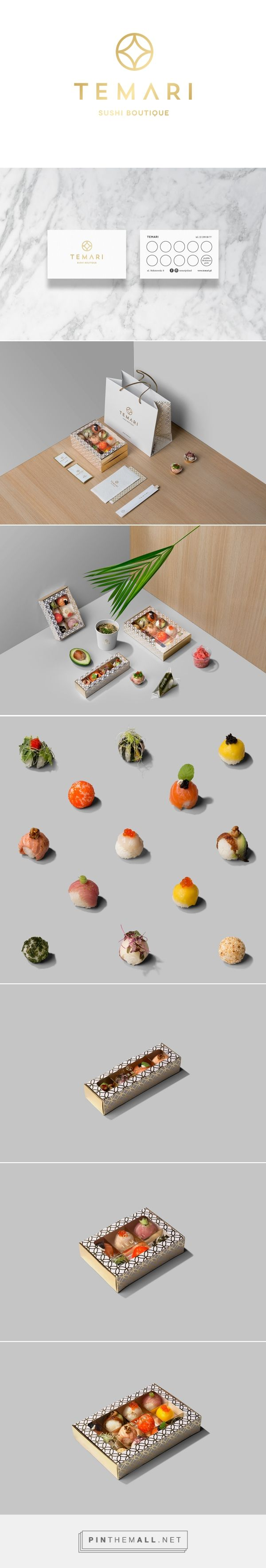 """TEMΛRI packaging on Behance by LANGE & LANGE Warsaw, Poland curated by Packaging Diva PD. Luxury """"TEMARI"""" Sushi Boutique Japanese Symbol Of Perfection Temari means handmade bal (""""te"""" - hand, """"mari"""" - ball)."""