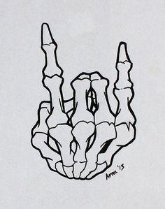 Tattoo Flash - Skeleton Horns