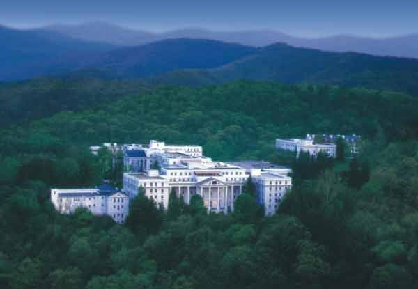 GREENBRIER RESORT: you can't afford to stay there but just walking the vast manicured grounds is a trip.