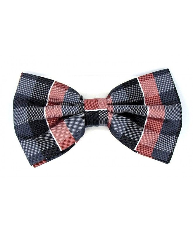 cc5ac1f4ae83 Stripe Pre-Tied Bow Tie - Coral-grey-black - CV186HADO5H #Accessories #gift  #fashion #Bow Ties