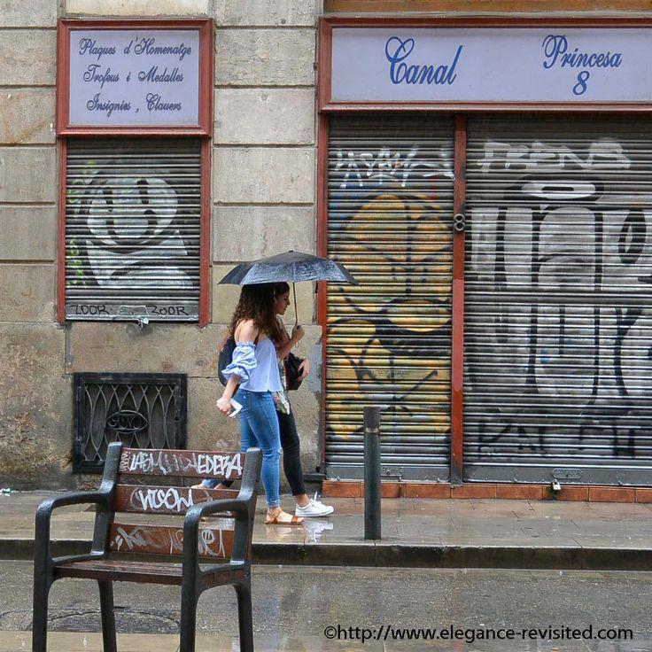 Barcelona rain