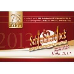 34% discount Schlemmerblock Gutscheinbuch KÖLN 2013 (gültig ab sofort bis 01.12.2013) coupon book http://lafeo.de $21.33