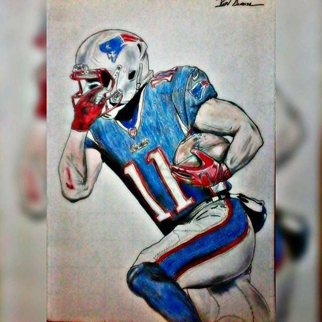 Reposting my drawing of my favorite football player ever. Minitron! @edelman11 #newengland #patriots #pats #patsnation #julianedelman #julianedelman11 #minitron #edelman11 #newenglandpatriots #football #sports #drawing #draw #art #artist #sketching #sketch #colorful #sketches #sketchbook #drawings #instadraw #incredelman #nepatriots #nationalfootballleague #NFL
