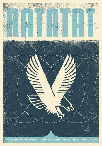 ratatat: Gigpost With, Indie Band, Birds Pictures, Band Poster, Garrett Karol, Graphics Design, Gig Poster, Book Covers, Music Poster Indie