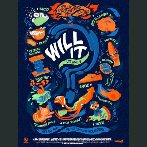 Brand new Will It? poster by Rhett and Link.