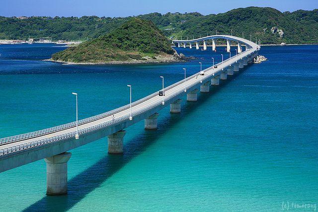 Tsunoshima Bridge Tsunoshima Island (角島) Houhoku, Shimonoseki-city, Yamaguchi prefecture, Japan 山口県下関市豊北町