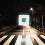 Night Stroll: Geometric Lightscapes Animated on the Streets of Tokyo by Tao Tajima