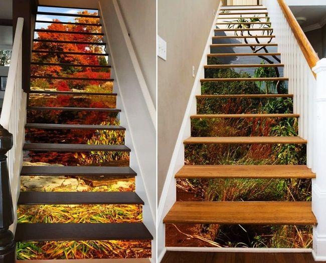 MENTŐÖTLET - kreáció, újrahasznosítás: Lépcsőtapéták