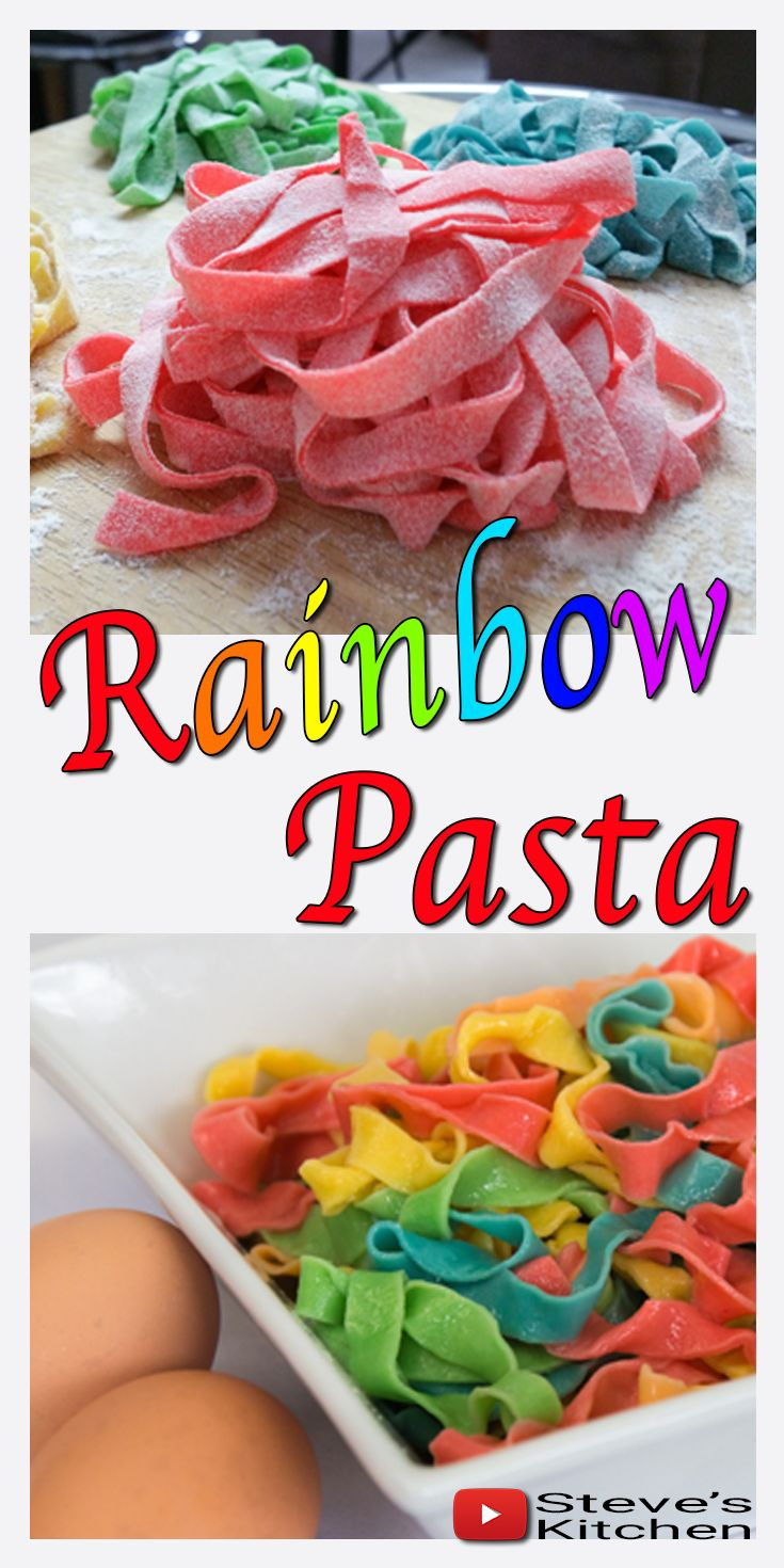 Florian Barbarino, a subscriber, commented on my Chocolate Crinkle Rainbow Cookies that he loved the cookies and would I make some rainbow coloured pasta.😀 Full recipe here: https://youtu.be/gM-J  Well I love making pasta and turning it into a rainbow was such fun. It looked so pretty once it was cooked that I whipped up a colourful Carbonara for the family for dinner.  Here is my Carbonara recipe on my channel https://youtu.be/8QCW0qWbNeI  If you decide to make this recipe send me some…