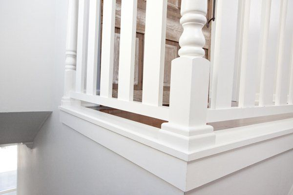 Raised Banister Visit deck railing ideas at http://awoodrailing.com