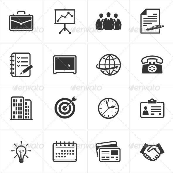 Business and Office Icons - $7