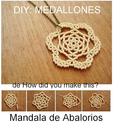 Fuente: http://howdidyoumakethis.com/blog/2012/8/23/make-this-beaded-lace-medallion.html