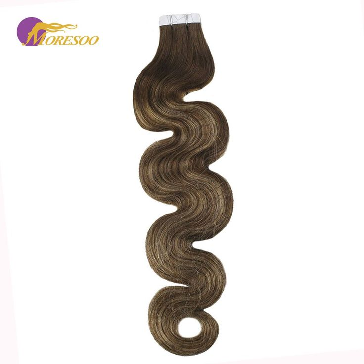 Moresoo Tape in Hair Extensions Real Remy Hair Bal…