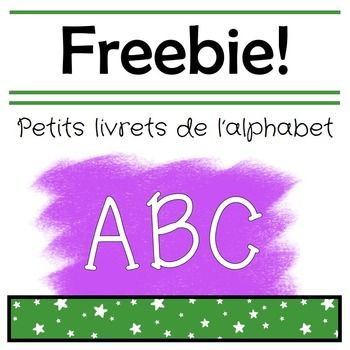 Simple foldable letter booklets to help your French immersion students practice common words that begin with each letter of the alphabet.This sample includes the letters A, B and C. The full product French Alphabet Booklets*****************************************************************************Customer Tips:How to get TPT credit to use on future purchases: Please go to your My Purchases page (you may need to login).