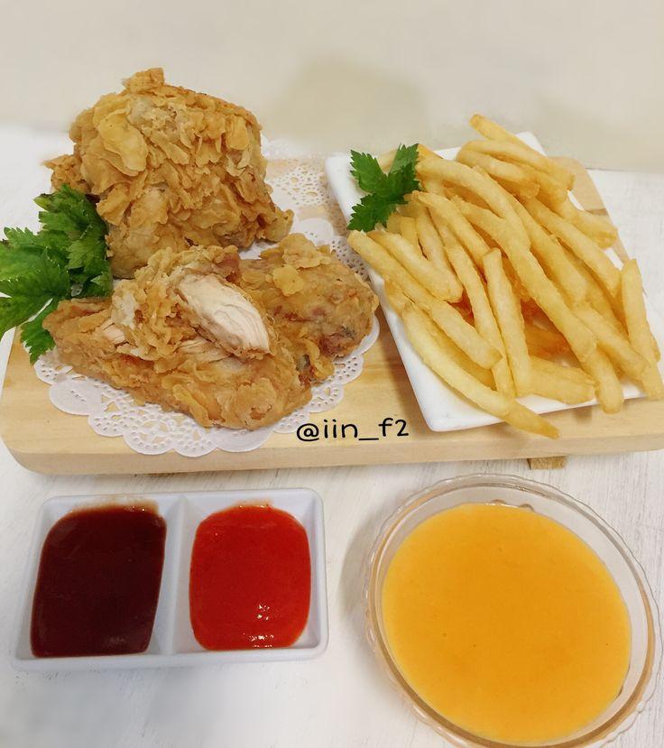 Ayam Goreng KFC renyah & kribo+saus richeese
