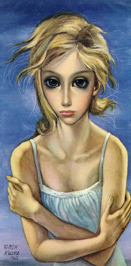 Untitled by Margaret Keane (1962) (painter) (US) (also SEE my Margaret #Keane Board)