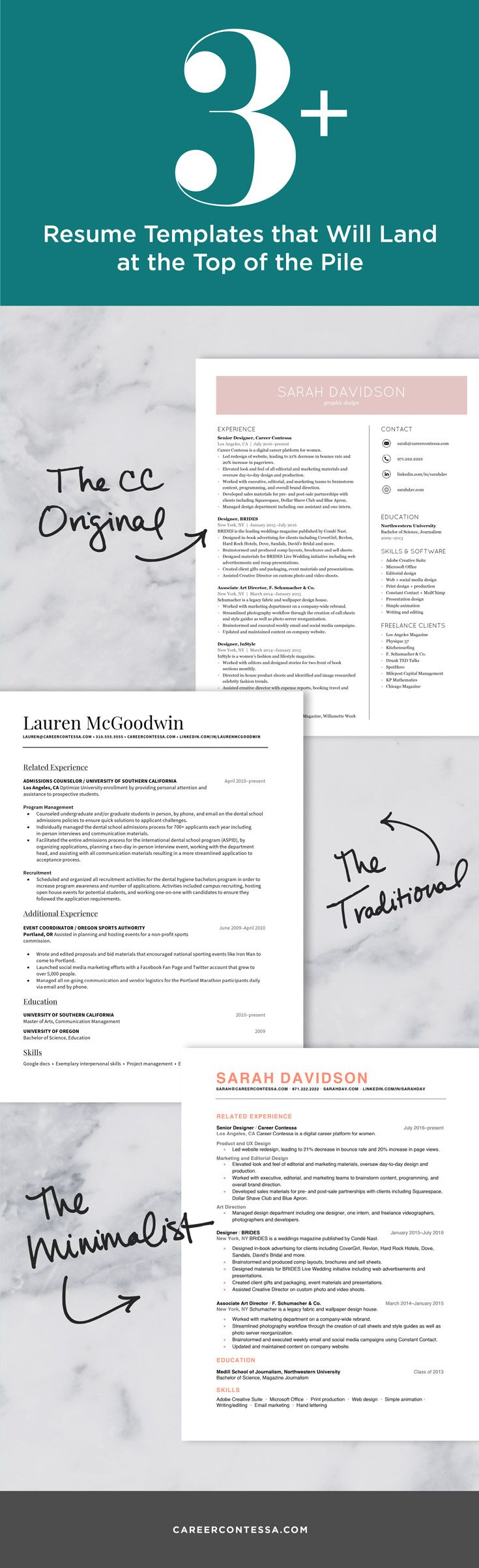 186 best RESUMES images on Pinterest