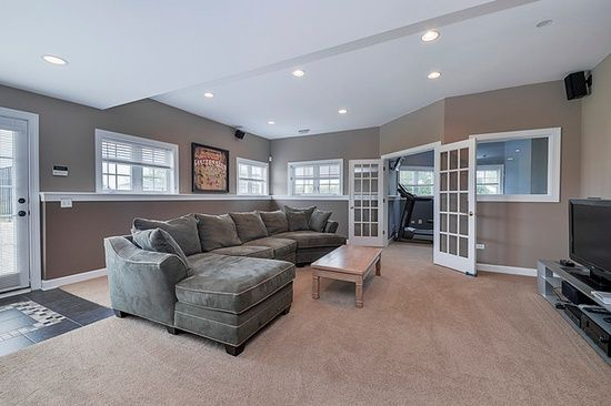 finished basement fabulous basements pinterest neutral colors colors and finished basements. Black Bedroom Furniture Sets. Home Design Ideas