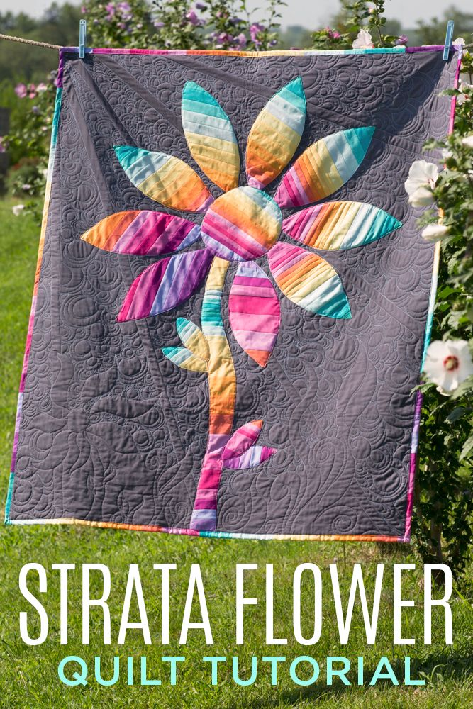 Free Strata Flower Quilt Tutorial with Rob Appell of Man Sewing!