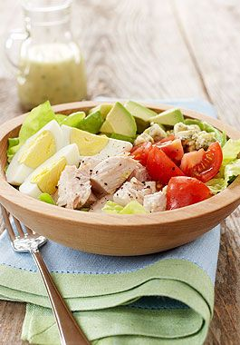 Turkey Cobb Salad - This colourful, fresh and flavourful salad is a satisfying meal in one – perfect for dining al fresco.
