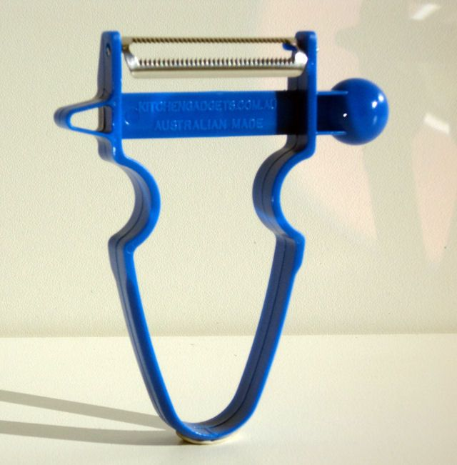 Kitchen Gadgets 50 mm Polyzand Peeler Serrated peeler with melon baller and potato eye remover.