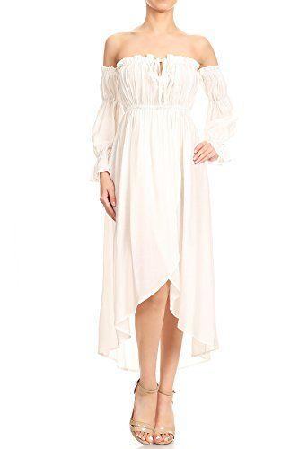 cd4c5ca154e9 New Anna-Kaci Anna-Kaci Womens Casual Boho Long Sleeve Off Shoulder  Renaissance Peasant Dress. womens dresses   24.99 - 34.99  from top store  ...