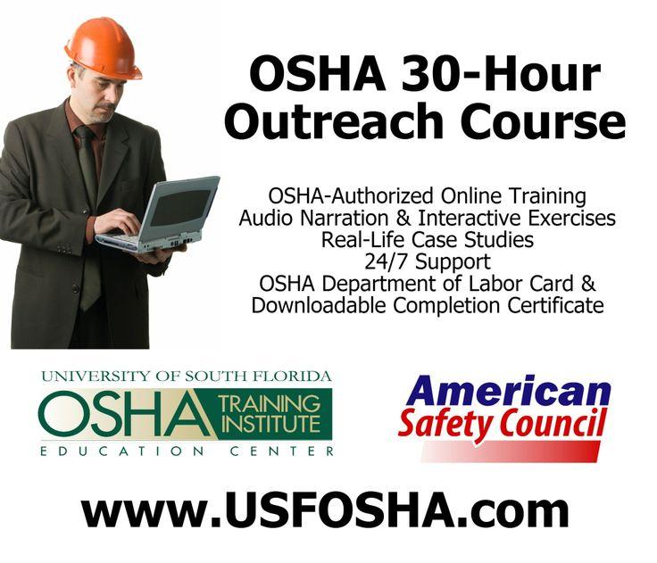 OSHA 30-Hour Outreach Safety Training Courses For