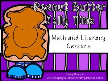 """Satisfy your kids' hunger for engaging math and literacy stations with this perfect Peanut Butter and Jelly-themed packet.  It is """"jam-packed"""" with 5 literacy and 5 math stations all directly aligned to both the Common Core standards and the Texas TEKS."""