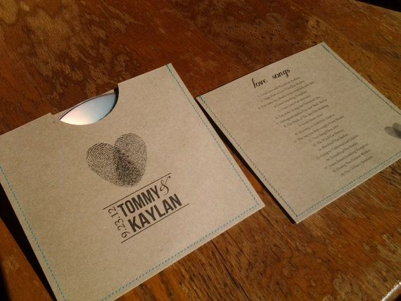 personalized cd sleeve wedding favor ANY COLOR by megasmiles on ETSY. A cute inexpensive wedding favor