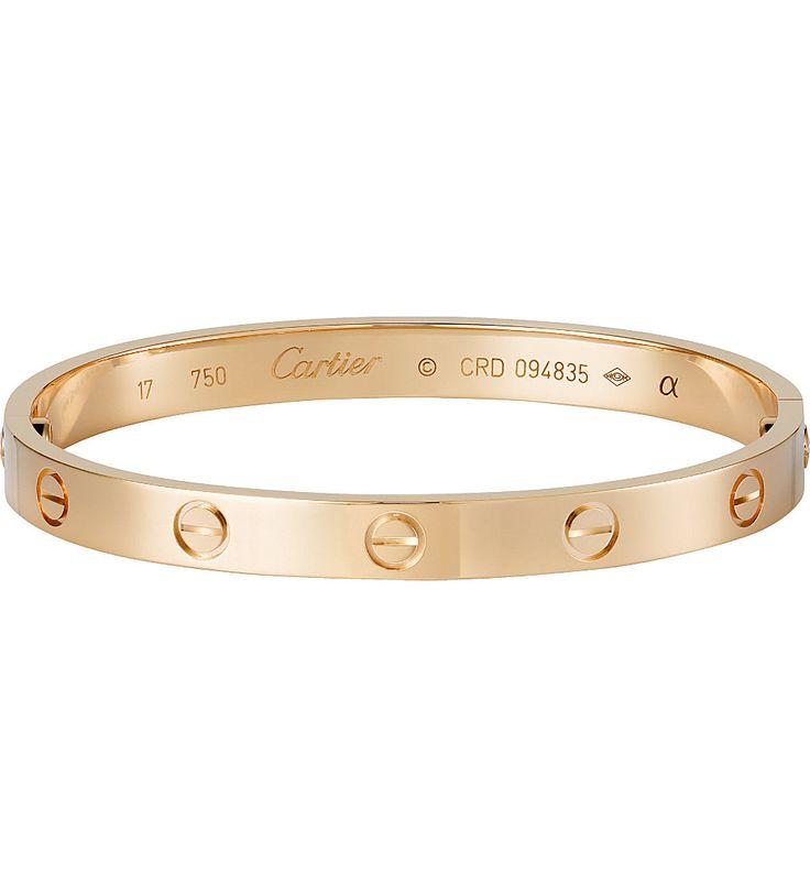 CARTIER - AMOUR 18ct bracelet en or rose   Selfridges.com