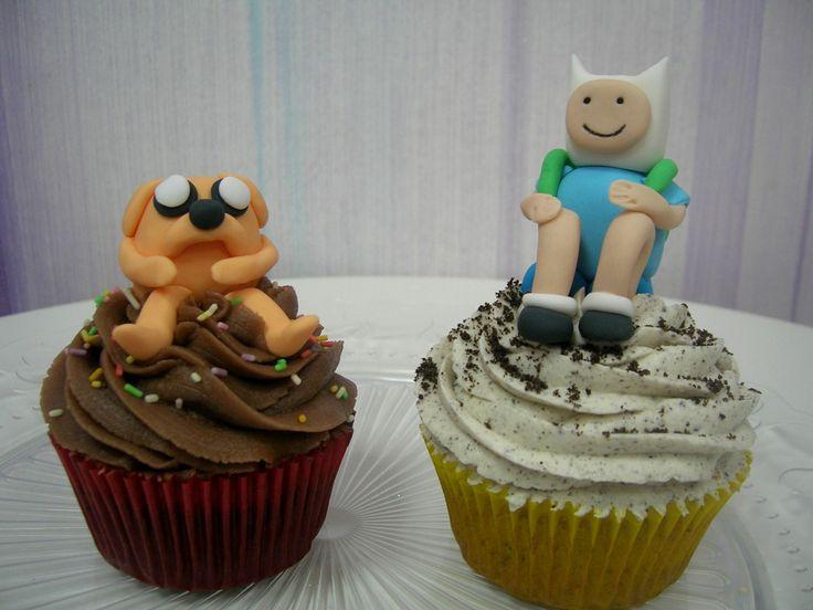 """Cupcakes """"Hora de Aventuras"""", para un fanático de la serie!!!"""