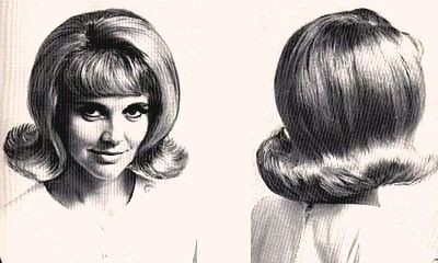 The Flip, the iconic early 60s hairdo - Yep - this was mine, minus the bangs...