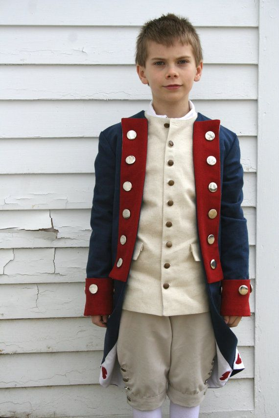 Great for a 4th of July parade costume!  Revolutionary War Soldier Costume - Boys Size Medium (8-10) - Colonial Costume - Patriot www.WonderfulLifeFarm.etsy.com