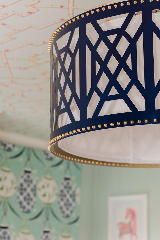 Art deco midnight blue chandelier