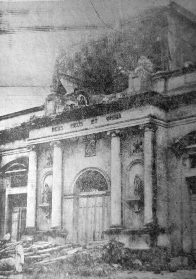 Parroquia San José , destruida en el terremoto de 1960, Concepción