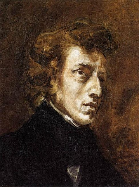 Chopin by Delacroix, 1838. Two of my favorite things.