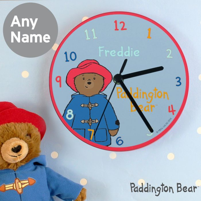 Personalised Paddington Bear Glass Clock This Paddington Bear glass clock can be personalised with a name up to 12 characters. £22.99