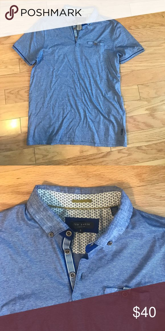 TED BAKER SHORT SLEEVE SHIRT Front pocket, size 5 (XL) Ted Baker Shirts Polos