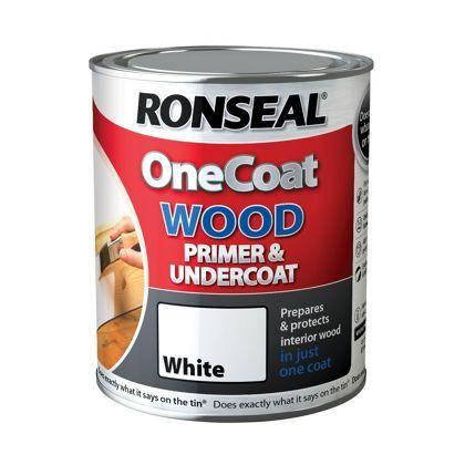 Ronseal One Coat Wood Primer & Undercoat - 750ml
