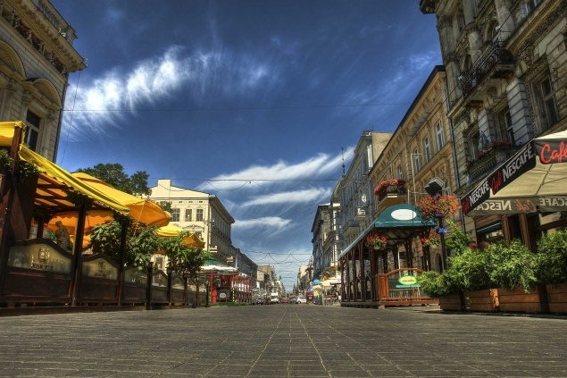Łódź. Piotrkowska Street.