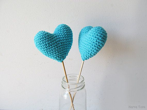 Amigurumi Crochet Amulet Heart (Set of 2)