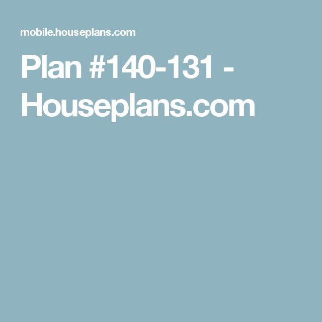 Plan #140-131 - Houseplans.com