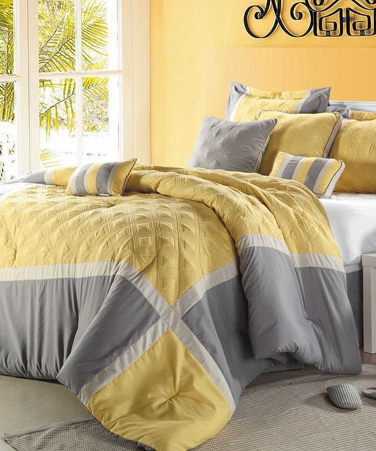 26 Best Yellow And Gray Comforter Set Images On Pinterest